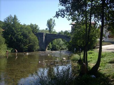 Zubiri /az Arga folyó partján festői környezetben írtam a naplóm mai etapját/