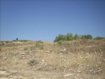 zarándokok álltal létrehozott kőszobor park,én is alkottam egyet