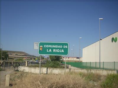kőrvonalazódik Logrogno/La Rioja tartomány/