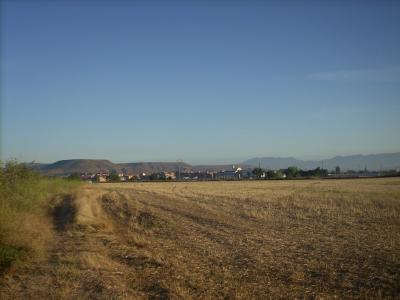 háttérben Najera városka