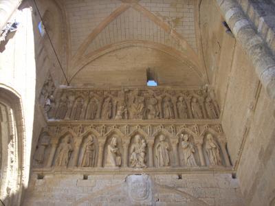 Villalcazar De Sirga/Santa Maria la Blanca templom főbejárat homlokzati rész/