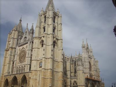 Leon/13.sz.épült a Santa Maria gótikus székesegyház/