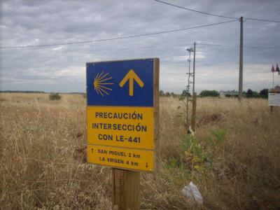 a Camino utat jelző tábla