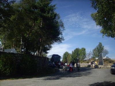Camino út/ megérkeztem az 1300m-en fekvő Cebreiro-ra/