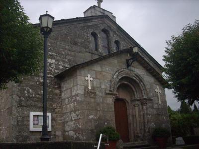 Camino út/ középkori templom/