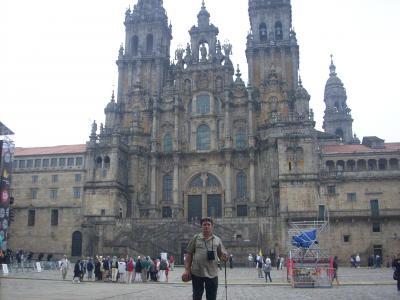 Camino út/Santiago/ katedrális/