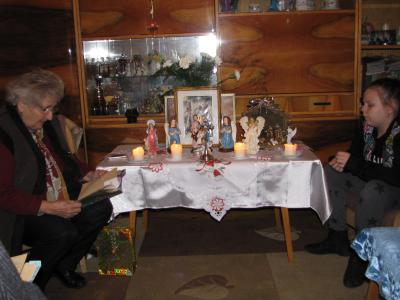Szent Család kép a házi oltáron
