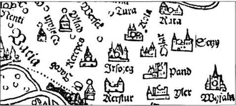 Lázár-térkép részlet Isaszeggel (Irsaszeg)